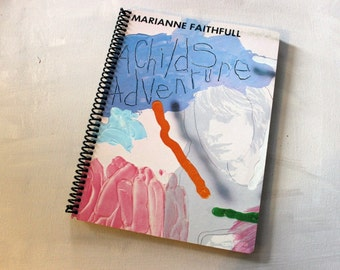 Marianne Faithfull A Childs Adventure Record Album Blank Notebook- Upcycled Journal, Sketch book