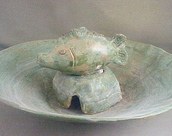 Ceramic Table Fish Fountain