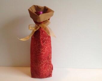 Wine Bottle Gift Bag - Fully Lined Fabric Wine Gift Bag