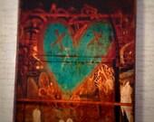 New York Graffiti Heart Wall Art  - 4x6 inches