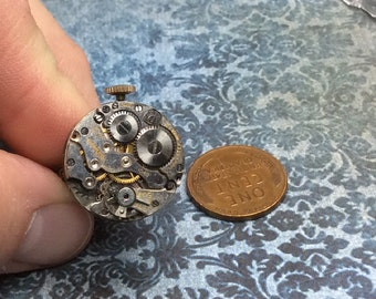 Steampunk handmade ring vintage watch movement  Mechanical Romance