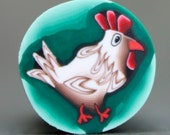 HALF PRICE SALE -Funky Chicken Polymer Clay Cane (28ee)