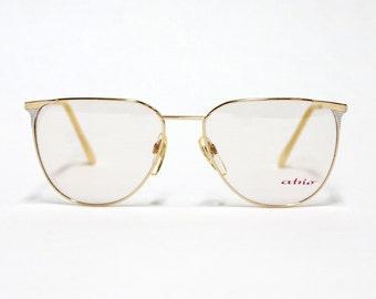 80s ATRIO Gold metal Womens Eyeglasses Frame, Vintage German Eyewear in unworn deadstock condition.