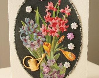 Handmade Card Spring Flowers