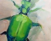 Original painting of a Beetle
