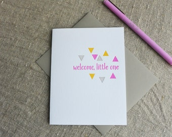 New Baby Letterpress Greeting Card - Welcome Little One