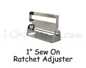"100 Suspender / Sew On Ratchet  with Teeth - Slide / Strap Adjuster - 1"" Metal - SEE COUPON"