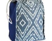 Denim Ikat Reusable Lunch Bag