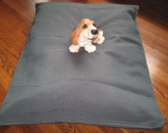 Teal and Brown Design Color  - Free Shipping -  Extra Strong and Durable dog bed COVER  Hand Made in USA by toughdogbed
