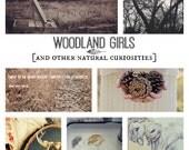 "Online Art Class ""Woodland Girls and Other Natural Curiosties"""