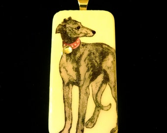 Custom Greyhound Pendant
