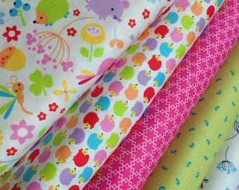 Wildflower Meadow fabric by Riley Blake and Fabric Shoppe Fabrics- Bundle of 5 Fabrics, You choose the cut