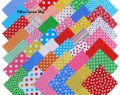 "Windham BASIC BRIGHTS Precut 5"" Charm Pack Fabric Quilting Cotton Squares Baum Polka Dots"