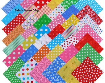 "SQ69 Windham BASIC BRIGHTS Precut 5"" Charm Pack Fabric Quilting Cotton Squares Baum Polka Dots"