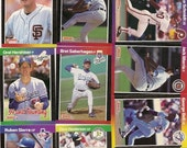 132 Old VINTAGE 1989 DONRUSS Baseball PICTURE Cards
