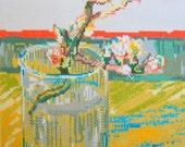 Van Gogh's Blossoming Almond Branch-#LB14300