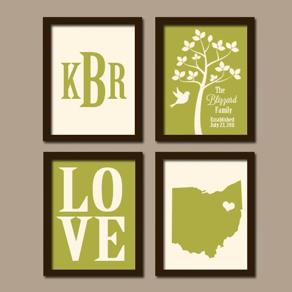 personalized family wall art custom family tree state by. Black Bedroom Furniture Sets. Home Design Ideas