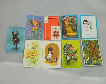Swap Cards---Vintage People Playing Cards----