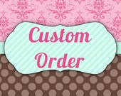 Custom Order -  Baby Name Banner (Reagan) for Laura by EKC