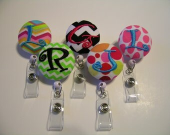 10 for 50 Bucks Personalized Retractable ID Badge Reels Monogrammed Name Badge Holder Teacher Gift Free Shipping