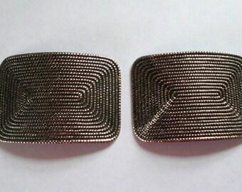 Vintage Shoe Clips Metal Shoe Clips MAZE