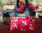 Minnie Mouse handbag purse tote small to Medium diaper bag for all ages add a name great gift trip to Disney birthday present personalize