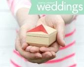 CUSTOM ENGRAVING Engagement ring box Pixie box proposal ring box, wedding ring box, keepsake box,jewelry box ring bearer pillow