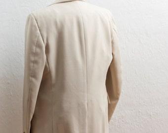 Men's Suit / XL Two-Piece Vintage / Light Beige Jacket / Size 46