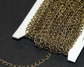 32 ft spool of Antiqued brass curb chain 3.8X4.5mm