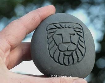 Lion Stone Talisman - Home decor paperweight