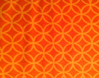 ORANGE CIRCLES  flannel lounge pants/pajama pants children's sizes 0-3 to size 16.  Contact me for adult sizes small to 3x.