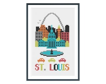 St. Louis Cross Stitch Pattern Instant Download