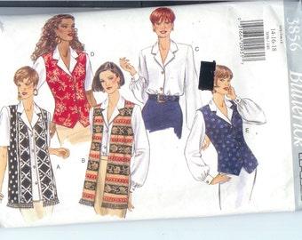 Butterick  Misses TOP Sewing Pattern 3856 Size  14-16-18   UNCUT
