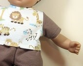 Bitty or Bitty Twin Boy Doll Clothes - Brown Pajamas with Lion