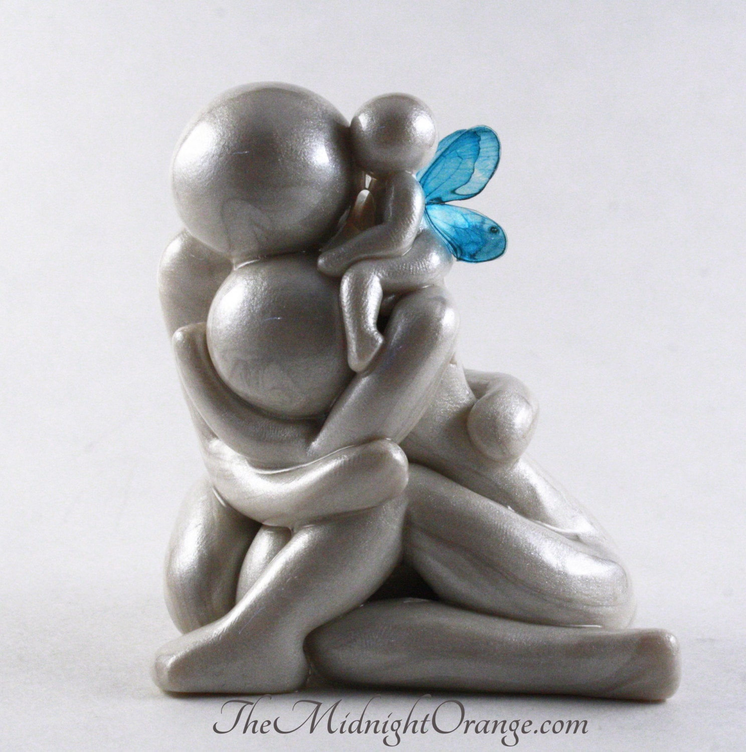 Always Grieving Parents With Angel Baby Sculpture Child