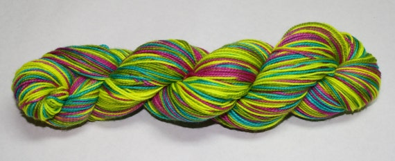 Highlighters Self Striping Hand Dyed Sock Yarn
