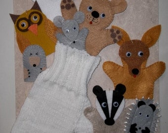 The Mitten Finger Puppet Set