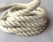 1 roll of 6mm, soft jute and cotton mix rope, 28 yards per roll, great for rustic weddings / ocean theme / nautical theme party