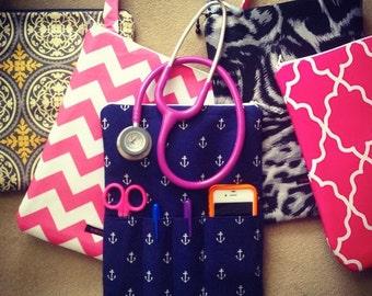 NURSING PURSE / AnyCase - plain stethoscope case, organizer - you choose the color! - (for RN nurses, teachers, moms, kids) nurse and purse)