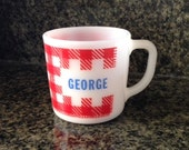 "Vintage Westfield Glass ""George"" Milk Glass Mug"