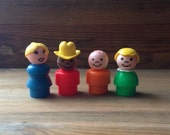 Vintage Fisher Price Little People Figures