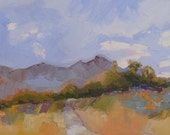 Original Arizona Landscape Oil Painting//Catalina Mountains near Tucson// 12 x 24 x 1.5 Inch Gallery Wrap Canvas// Impasto Technique//Signed