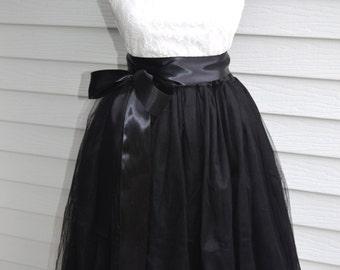 Black  Satin sash