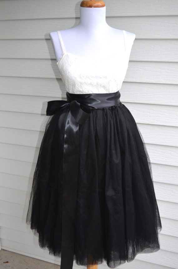 womens tutu black tulle skirt tulle skirt black skirt
