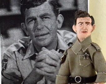 Andy Griffith Doll Miniature Actor Art Character Vintage Television