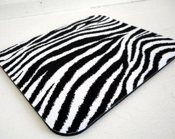 fabric mouse pad / mouse mat / mousepad / zebra office decor