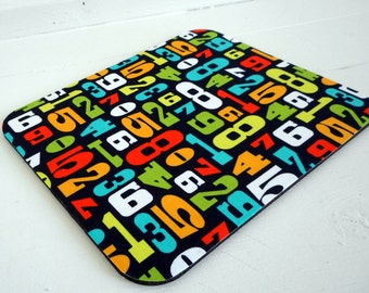 mousepad / mouse mat / mouse pad bright numbers