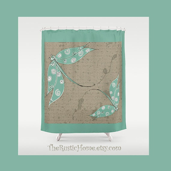 Https Etsy Com Listing 217202776 Rustic Dragonfly Shower Curtain