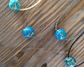 aqua blue imperial jasper polynesian roping necklace / waterproof / kidproof / surf / everyday / minimalist beauty / tula blue