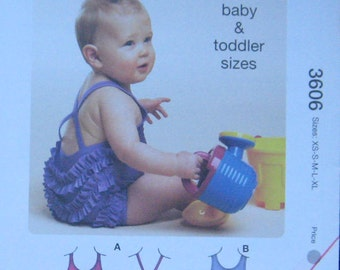 Kwik Sew Baby Toddler Swimsuit Pattern 3606